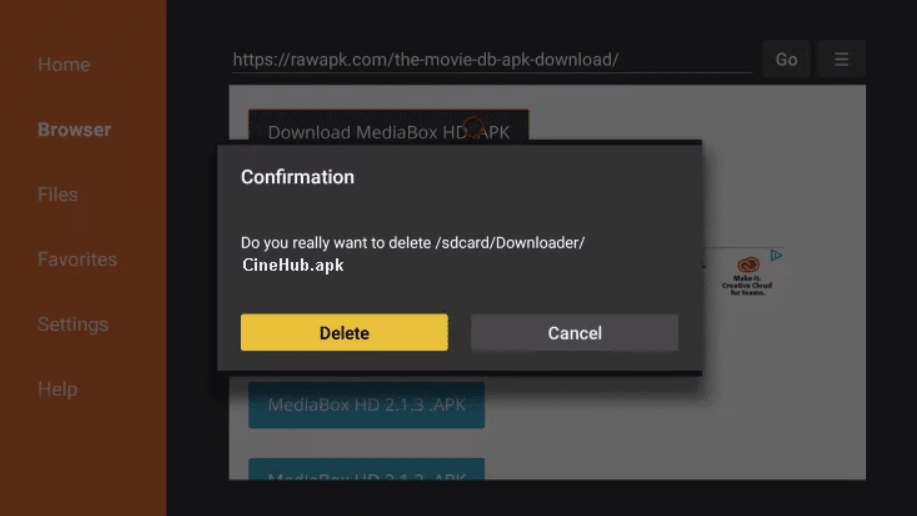 Install Cinehub on Firestick